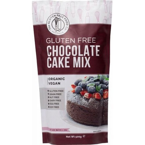 THE GLUTEN FREE FOOD CO Organic Chocolate Cake Mix 500g