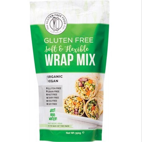 THE GLUTEN FREE FOOD CO Organic Wrap Mix Soft & Flexible 350g