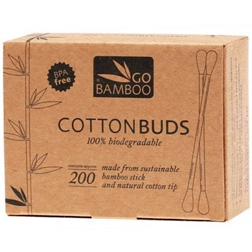 GO BAMBOO Cotton Buds Box of 200