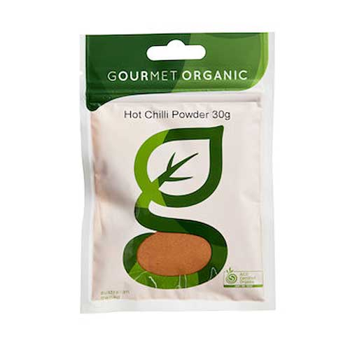 GOURMET ORGANIC Chilli Powder Hot 30g