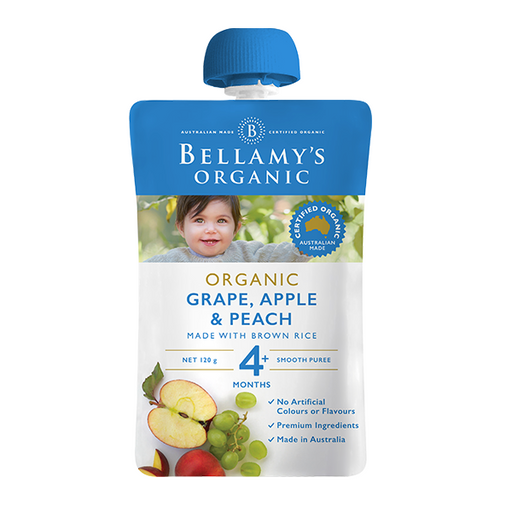Bellamys Organic Grape, Apple and Peach