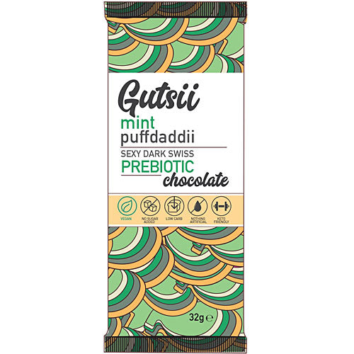 GUTSII Prebiotic Chocolate Mint Puffdaddii 32g