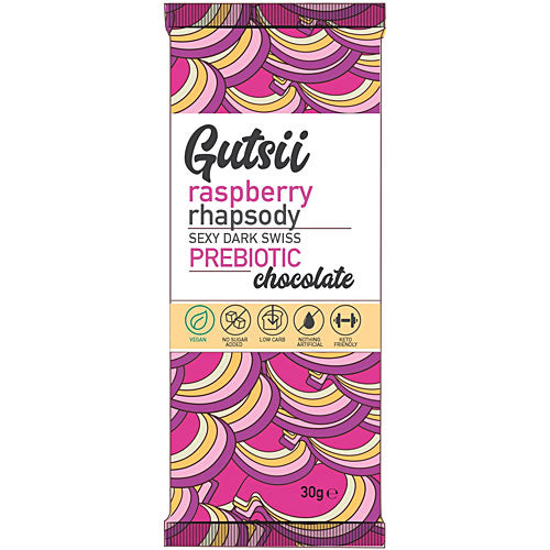 GUTSII Prebiotic Chocolate Raspberry Rhapsody 30g