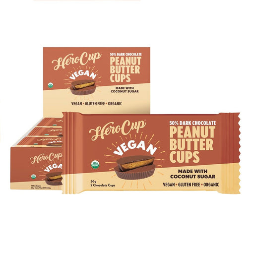Herocup Peanut Butter Cups 50% Dark Chocolate - Coconut Sugar