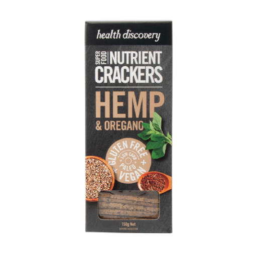 Health Discovery Hemp & Oregano Nutrient Crackers