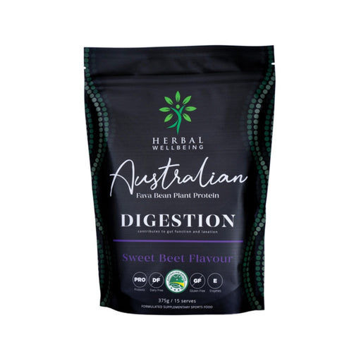 Herbal Wellbeing Australian Fava Bean Plant Protein Digestion Sweet Beet 375g