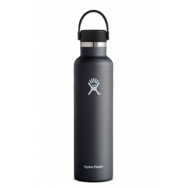 HYDRO FLASK Standard Mouth Bottle - Flex Cap Double Insulated - Black