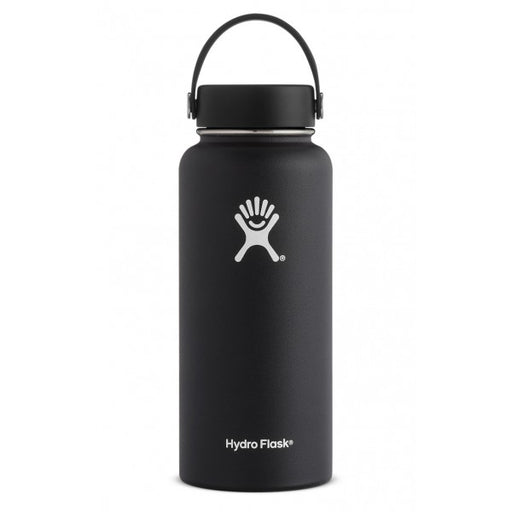 HYDRO FLASK Wide Mouth Bottle - Flex Cap Double Insulated - Black