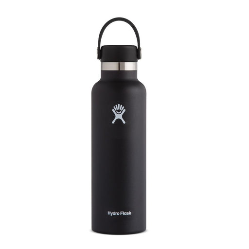 Hydro Flask Standard Mouth Bottle - Flex Cap Double Insulated - 621ml Black