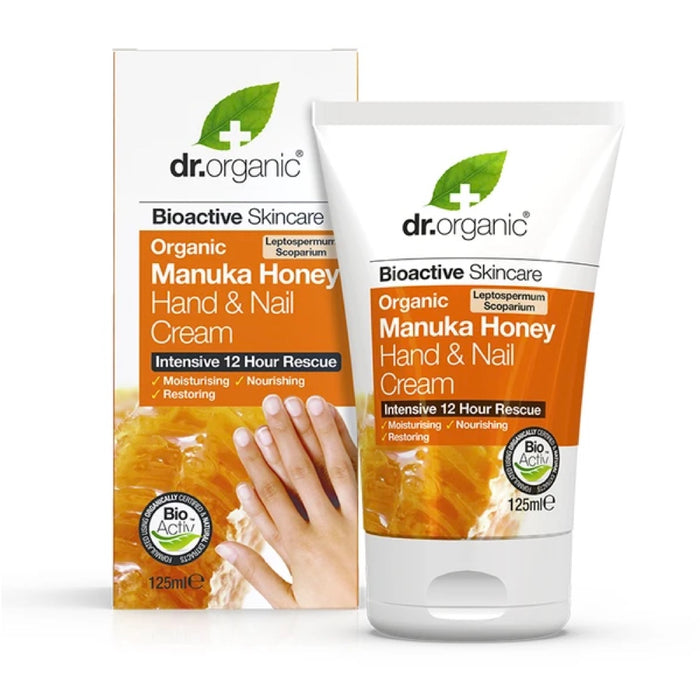 DR Organic Manuka Honey Organic Hand & Nail Cream - 125ml