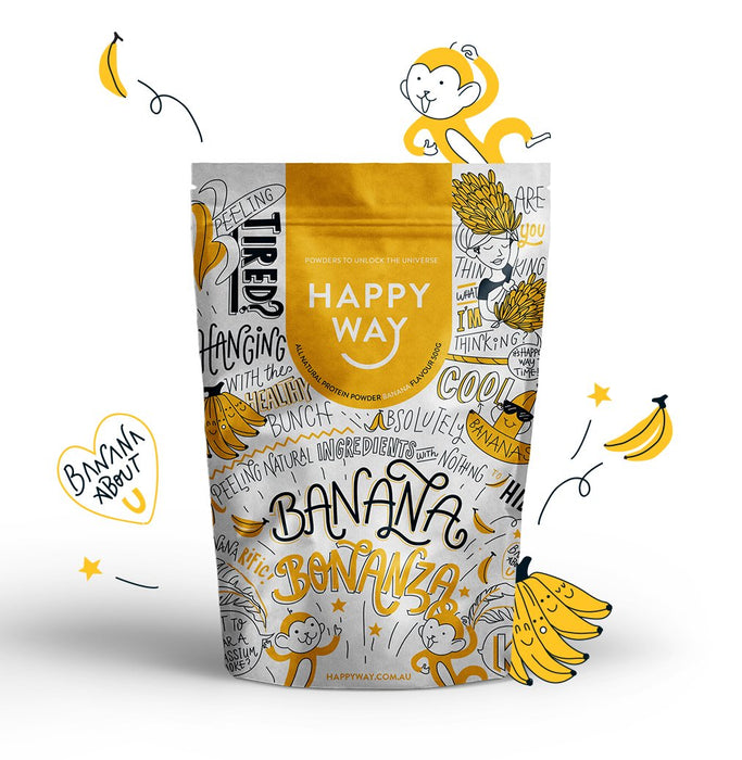 HAPPY WAY Whey Protein Powder Banana
