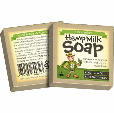 HEMP FOODS AUSTRALIA Organic Hemp Milk Soap Bar 110g - Unscented