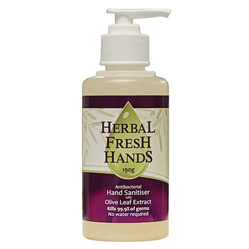 Herbal Extract Company Herbal Fresh Hands (Antibacterial Hand Sanitiser w Olive Leaf Extract) 190g