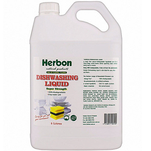 HERBON Biodegradable Dishwashing Liquid 5L Bulk