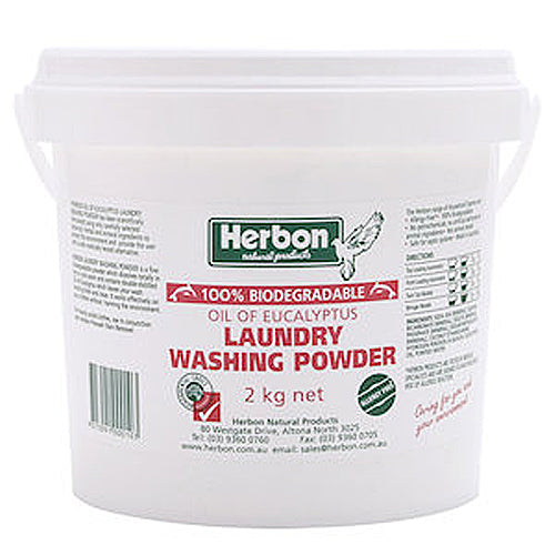 HERBON Biodegradable Laundry Washing Powder Oil Of Eucalyptus 2kg