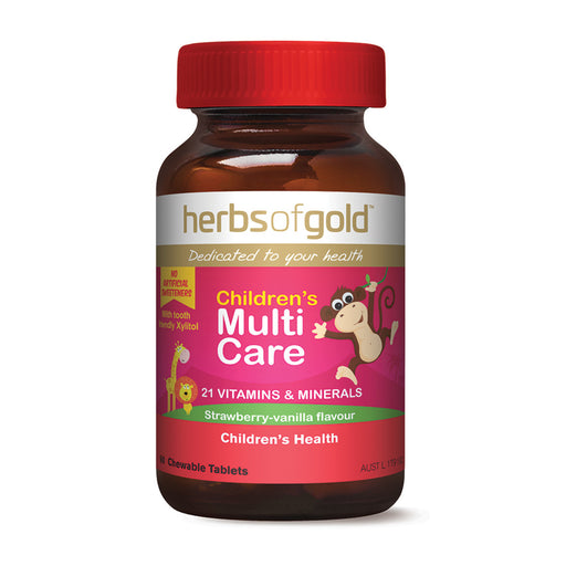 Herbs Of Gold Chewable Children's Multi Care 60t