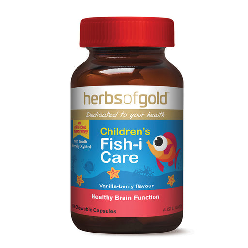Herbs of Gold Chewable Children's Fish-I Care  60c