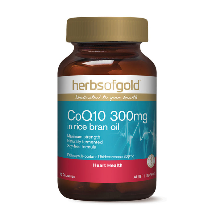 Herbs Of Gold Co Q10 150mg in Rice Bran Oil 30c