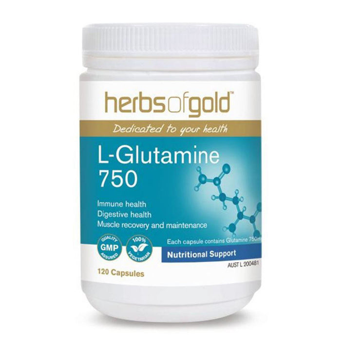 Herbs Of Gold L-Glutamine 750 120c