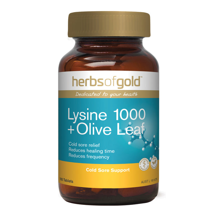 Herbs of Gold Lysine plus Olive Leaf 100t