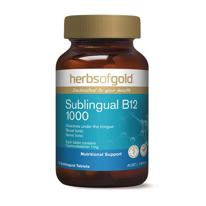 Herbs of Gold Sublingual B12 75t