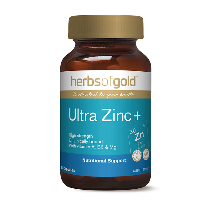 Herbs Of Gold Ultra Zinc+ 60c