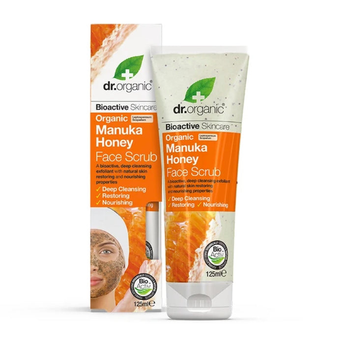 DR ORGANIC Face Scrub Manuka Honey 125ml