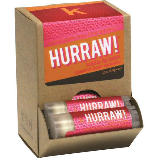 Hurraw! Kapha Grapefruit Ginger Eucalyptus Lip Balm