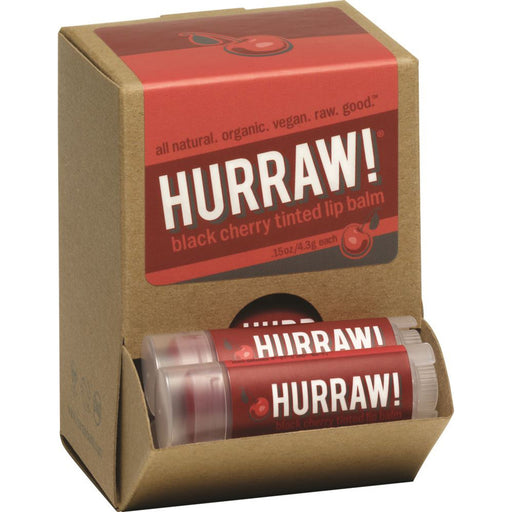 Hurraw! Tinted Black Cherry Lip Balm