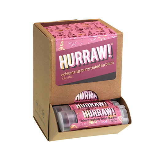 Hurraw! Tinted Echium Raspberry  Lip Balm