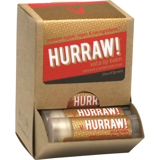 Hurraw! Vata Almond Cardamon & Rose Lip Balm