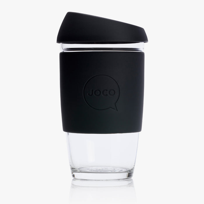 JOCO Large 16oz Reusable Glass Cup - Black