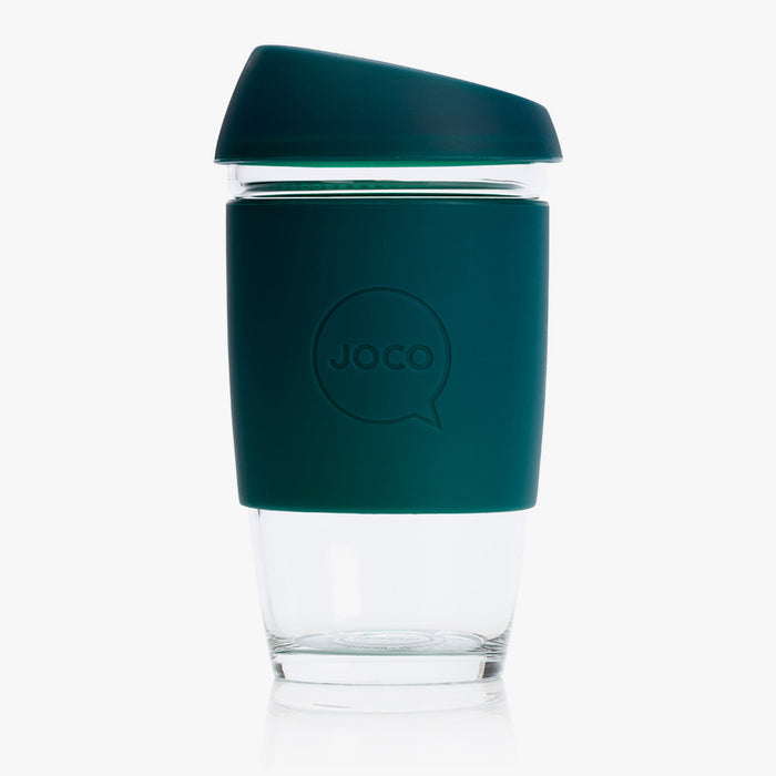 JOCO Large 16oz Reusable Glass Cup - Deep Teal