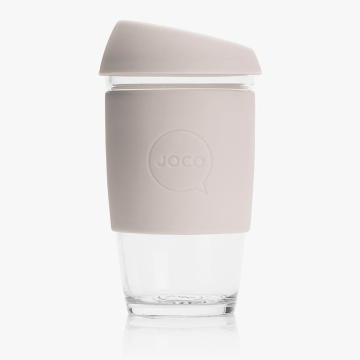 JOCO Large 16oz Reusable Glass Cup - Sandstone