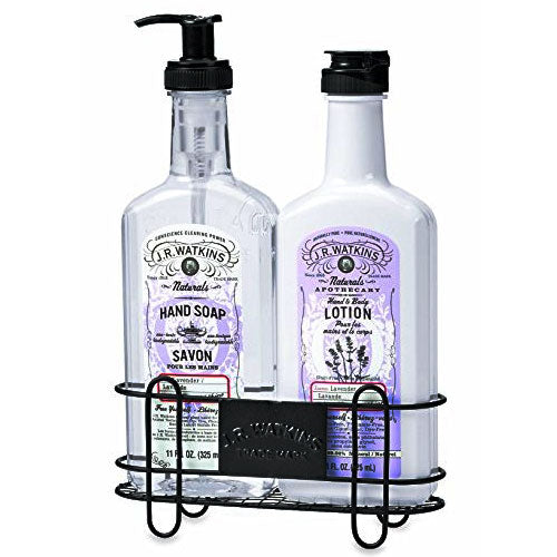 J.R. WATKINS Sink Set with Caddy Lotion and Hand Soap Lavender