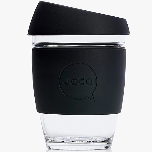 JOCO Original Glass Reusable Cup Black 12oz 354ml