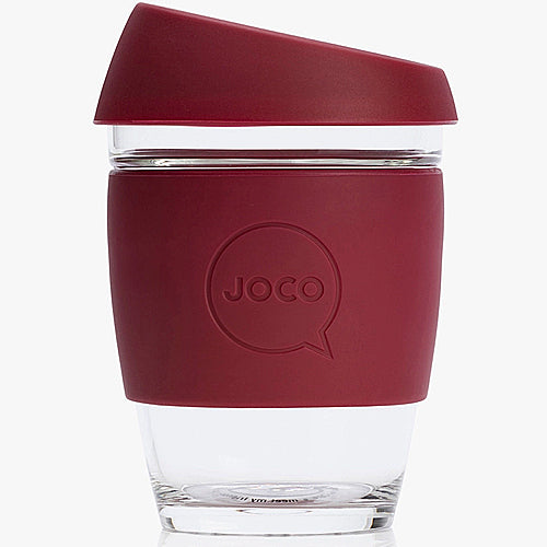 JOCO Original Glass Reusable Cup Ruby Wine 12oz