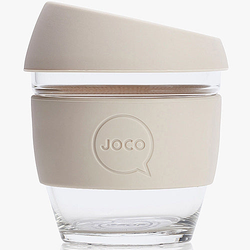 JOCO Original Glass Reusable Cup Sandstone 8oz 236ml