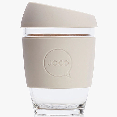 JOCO Original Glass Reusable Cup Sandstone 12oz 354ml