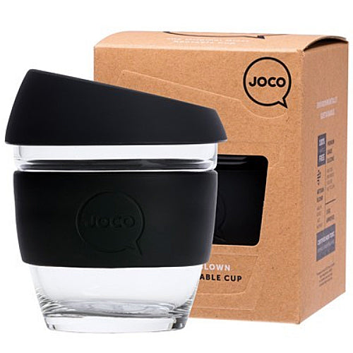 JOCO Original Glass Reusable Cup Black 8oz 236ml