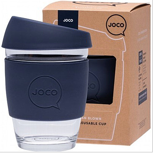 JOCO Original Glass Reusable Cup Mood Indigo 12oz 354ml