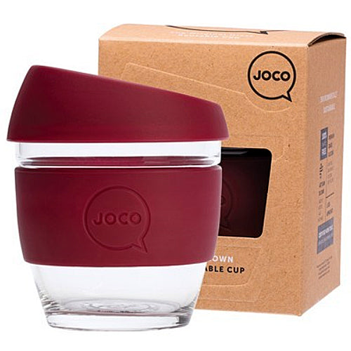 JOCO Original Glass Reusable Cup Ruby Wine 8oz 236ml