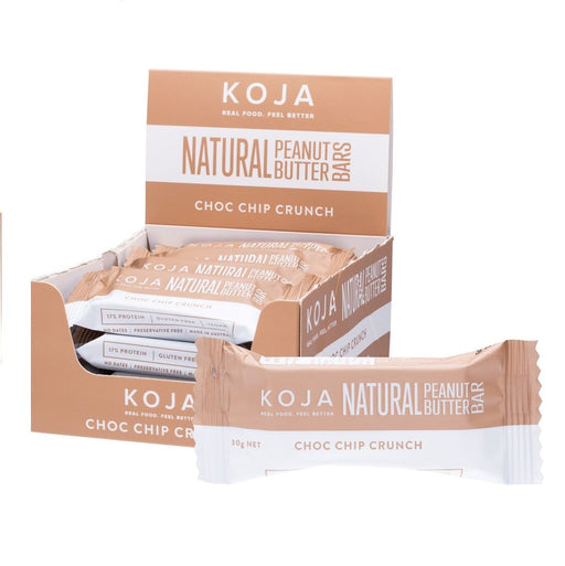 Koja Natural Peanut Butter Bar Choc Chip Crunch