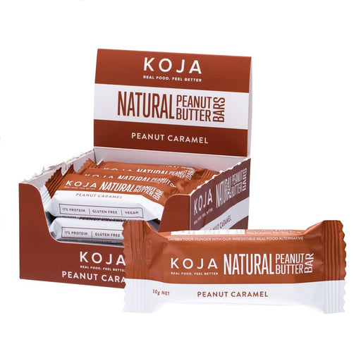 KOJA Natural Peanut Butter Bar Peanut Caramel