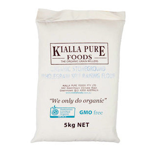 Kialla Flour Stoneground Wholemeal Self Raising Organic 5kg