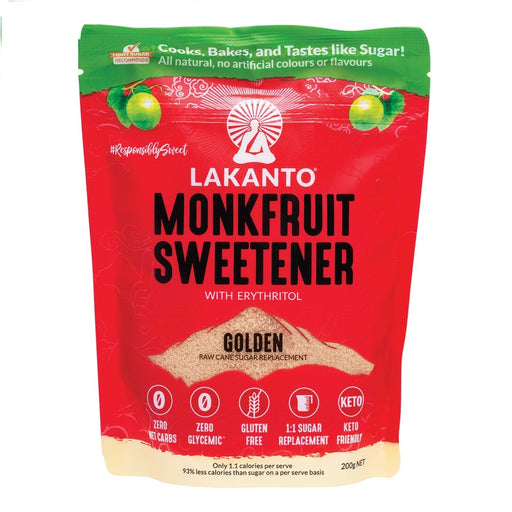 Lakanto - Golden Monkfruit Sweetener - With Erythritol 200g
