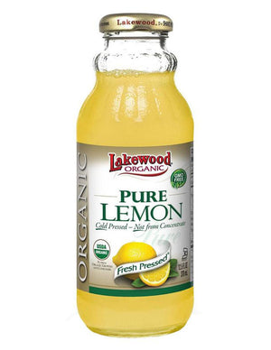 LAKEWOOD Organic Lemon Juice Cold Pressed 370mL