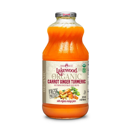 LAKEWOOD Carrot Ginger Turmeric Juice Organic 946mL
