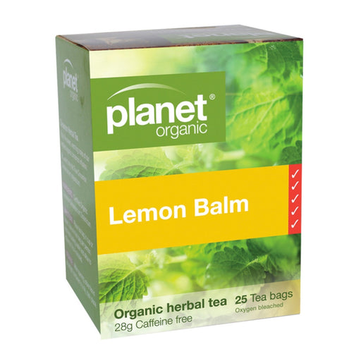 PLANET ORGANIC Herbal Tea Bags Lemon Balm - 25 Bags