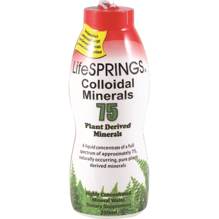 LifeSprings 75 Plant Derived Colloidal Minerals 200ml